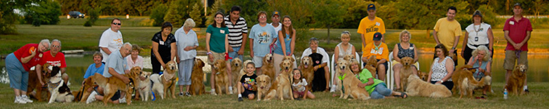Happy golden retriever alumni dogs adopted from Golden Retriever Rescue Resource, serving the Ohio, Michigan and Indiana areas, surrounding Toledo Ohio.